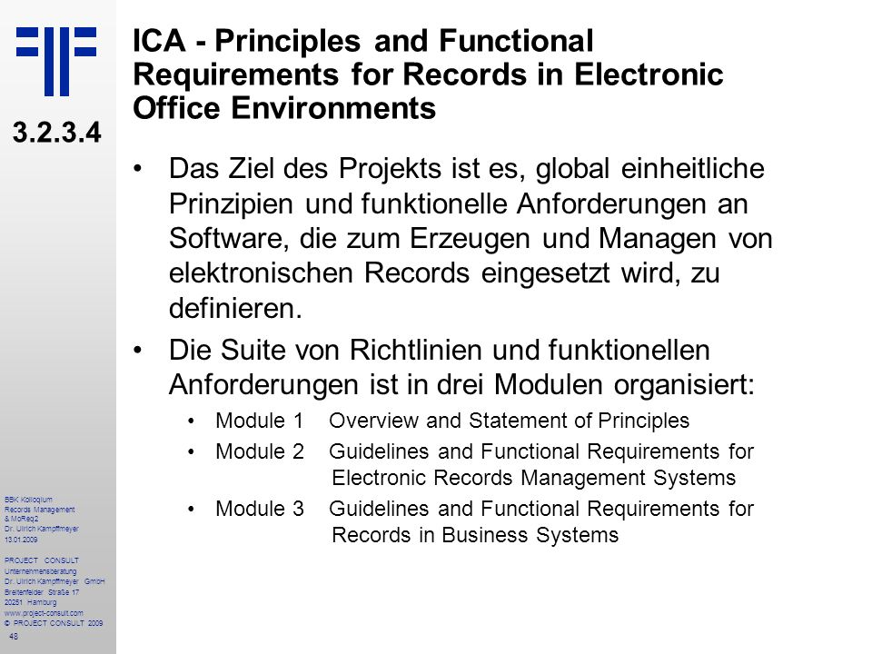 ICA - Principles and Functional Requirements for Records in Electronic Office Environments
