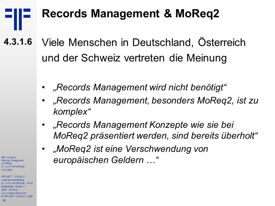 Records Management & MoReq2