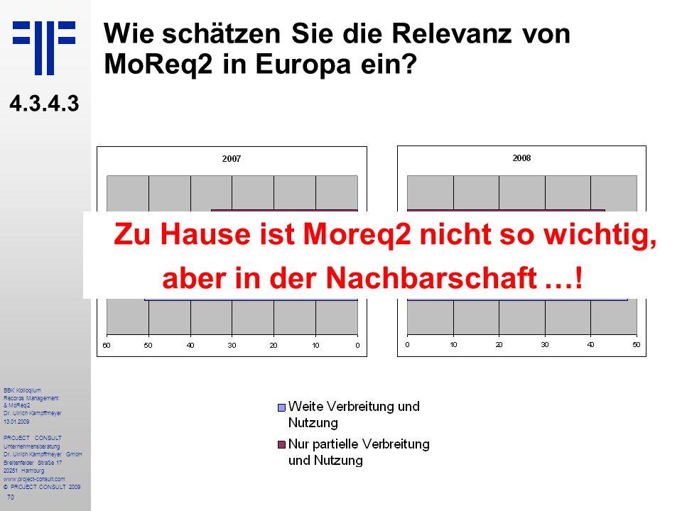Wie schätzen Sie die Relevanz von MoReq2 in Europa ein