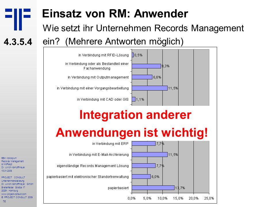 Einsatz von RM: Anwender