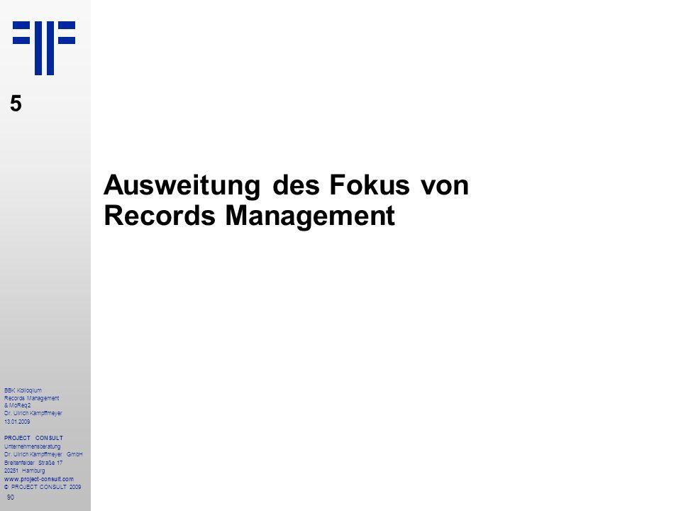 Ausweitung des Fokus von Records Management