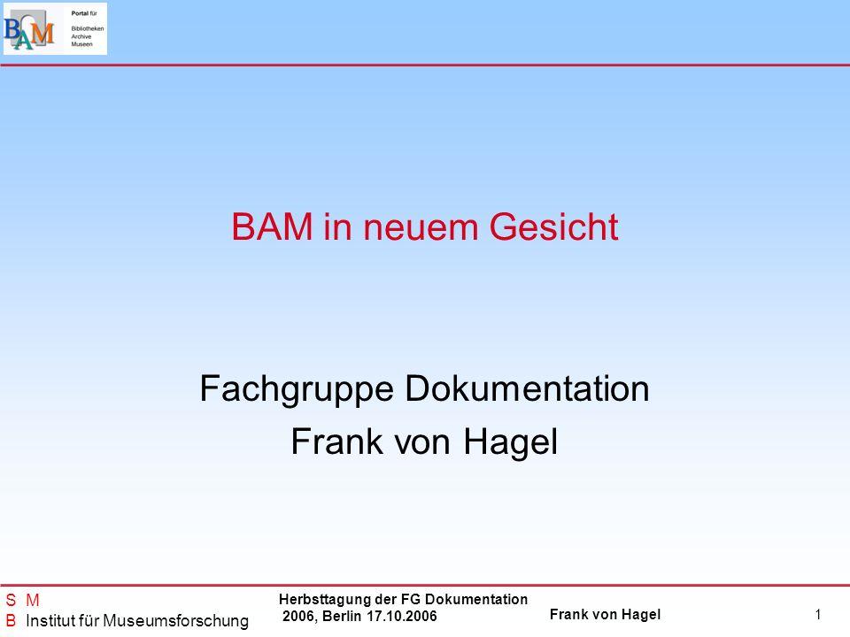 Fachgruppe Dokumentation Frank von Hagel