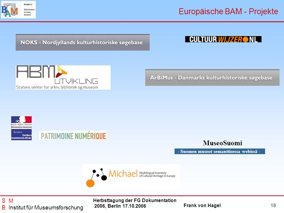 Europäische BAM - Projekte