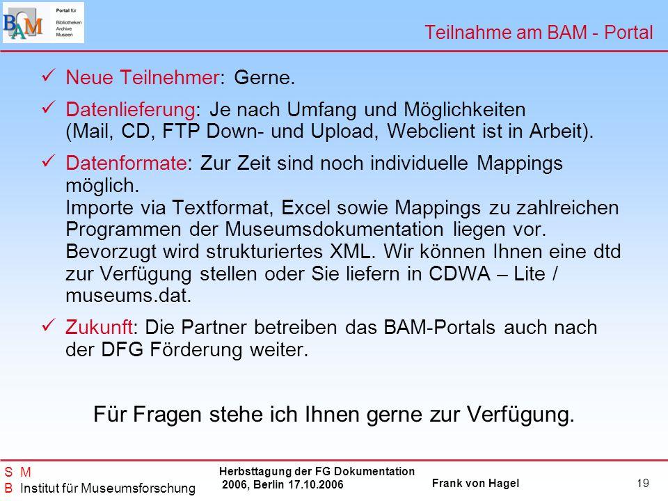 Teilnahme am BAM - Portal