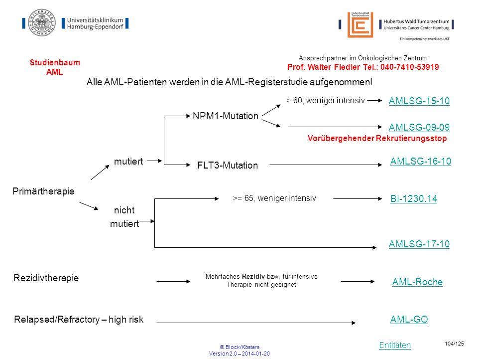 Alle AML-Patienten werden in die AML-Registerstudie aufgenommen!