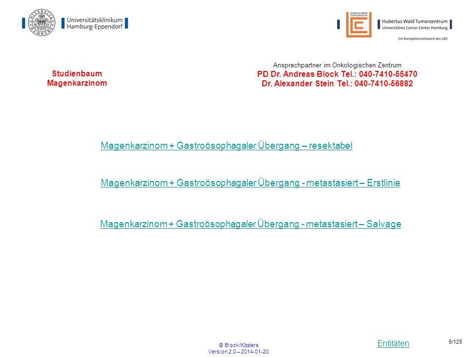 Studienbaum Magenkarzinom