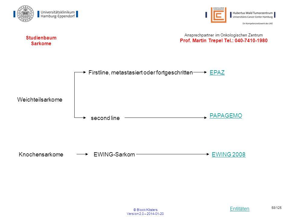 Firstline, metastasiert oder fortgeschritten EPAZ