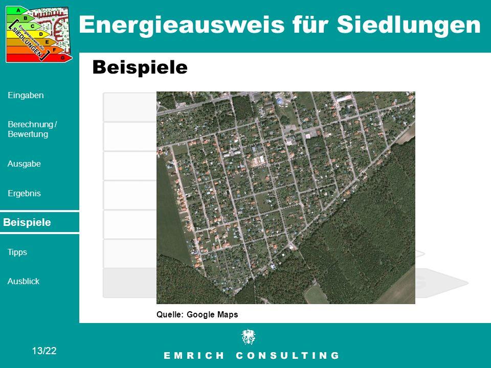 Beispiele Quelle: Google Maps Beispiele