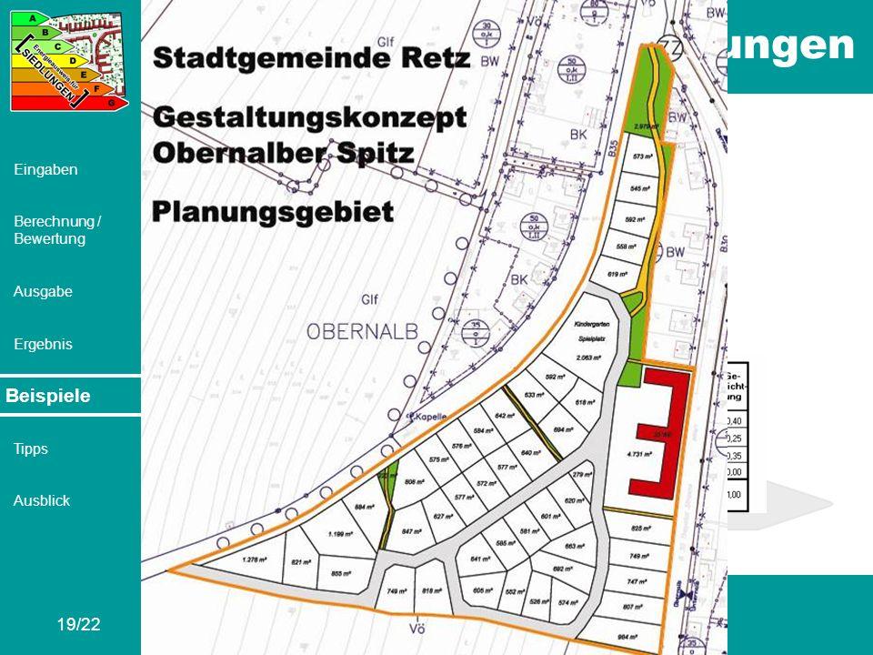 Beispiele Retz – Obernalber Spitz V2c: Ca. 4,9 Hektar 73 Wohneinheiten