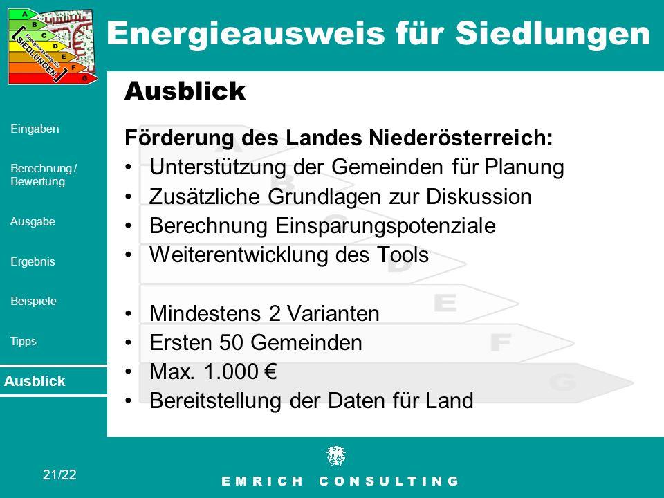 Ausblick Förderung des Landes Niederösterreich:
