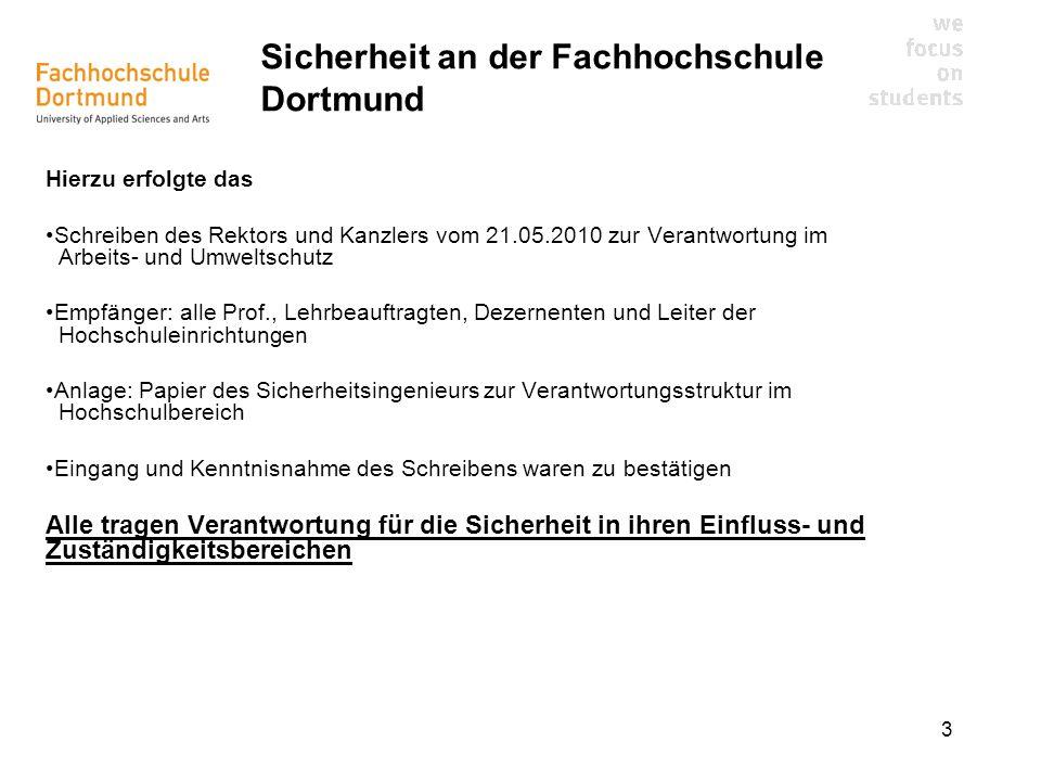 Sicherheit an der Fachhochschule Dortmund