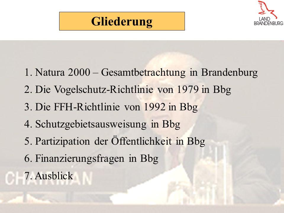 Gliederung 1. Natura 2000 – Gesamtbetrachtung in Brandenburg