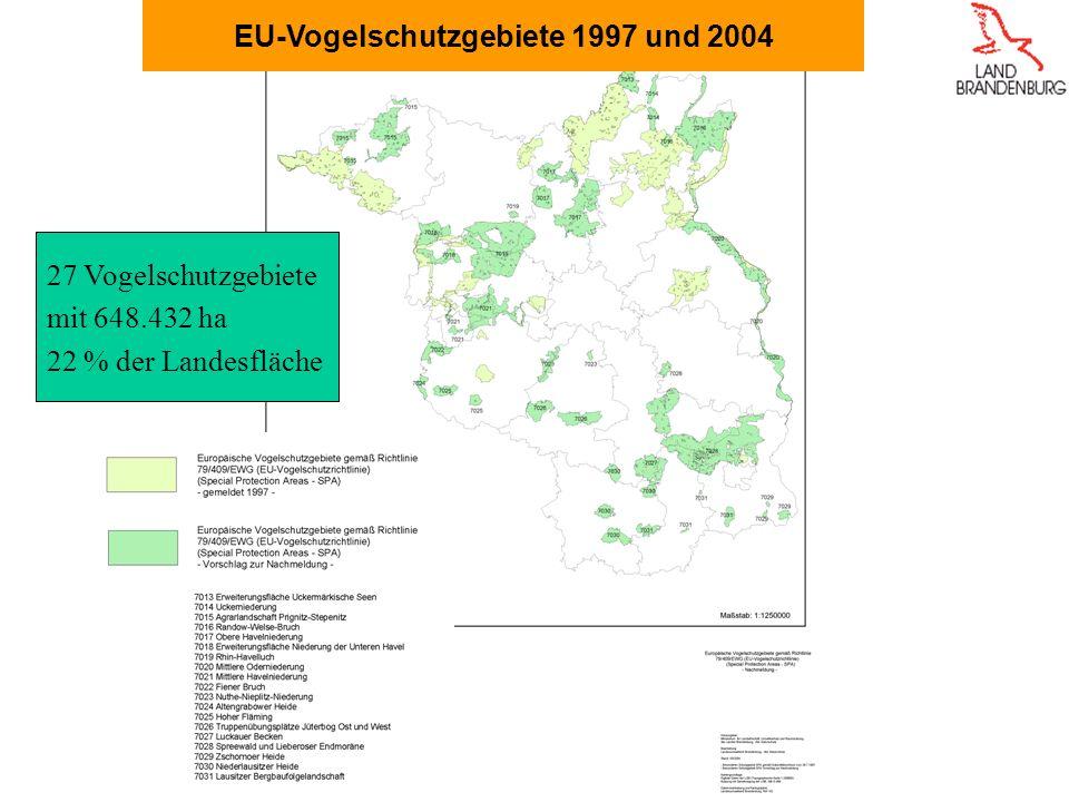 EU-Vogelschutzgebiete 1997 und 2004