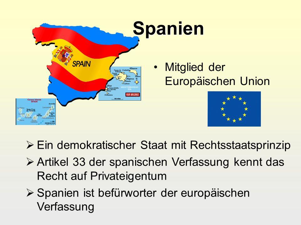 Spanien Mitglied der Europäischen Union