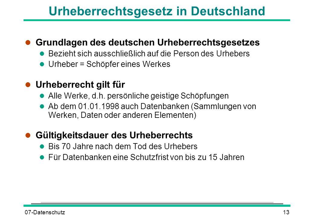 Urheberrechtsgesetz in Deutschland