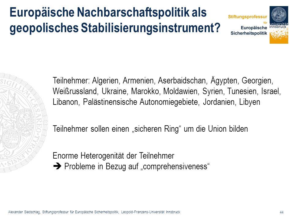 Europäische Nachbarschaftspolitik als geopolisches Stabilisierungsinstrument