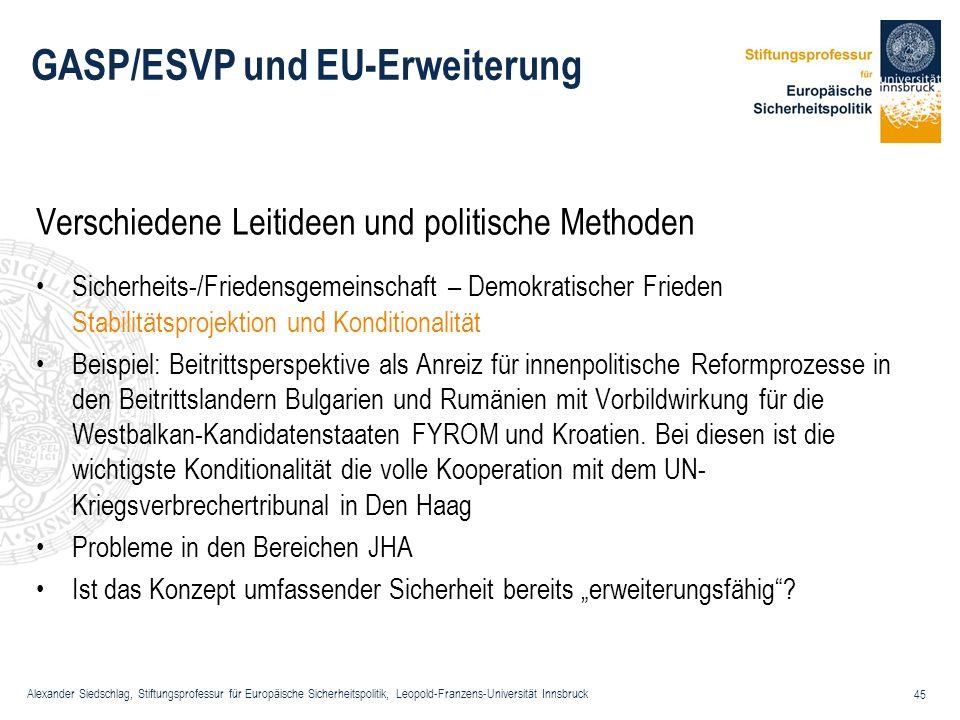 GASP/ESVP und EU-Erweiterung