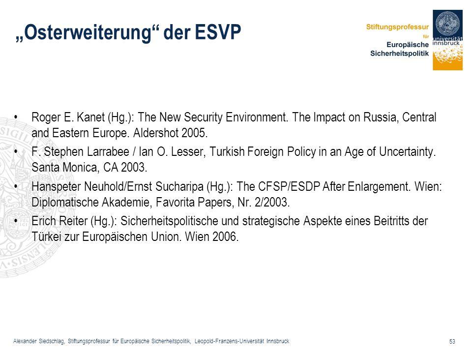 """""""Osterweiterung der ESVP"""