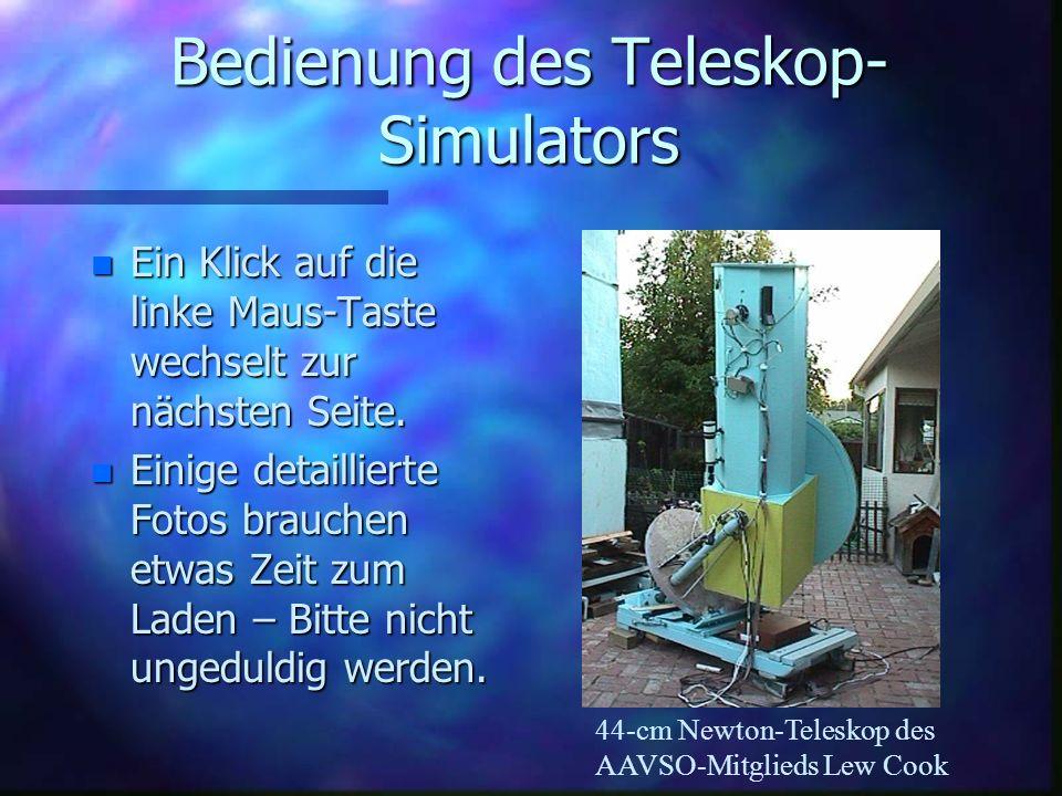 Bedienung des Teleskop-Simulators