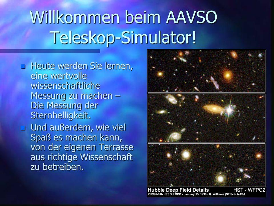 Willkommen beim AAVSO Teleskop-Simulator!