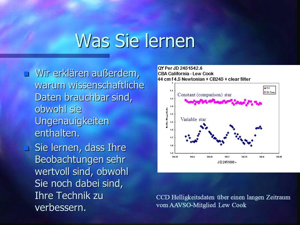 Was Sie lernen Wir erklären außerdem, warum wissenschaftliche Daten brauchbar sind, obwohl sie Ungenauigkeiten enthalten.