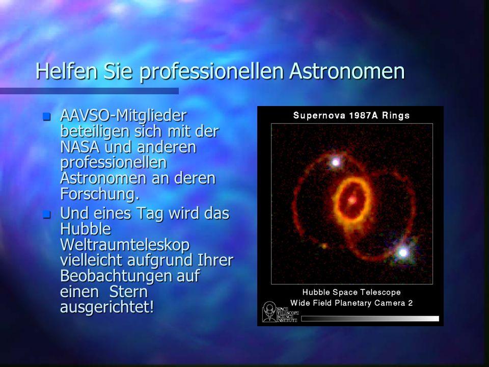 Helfen Sie professionellen Astronomen