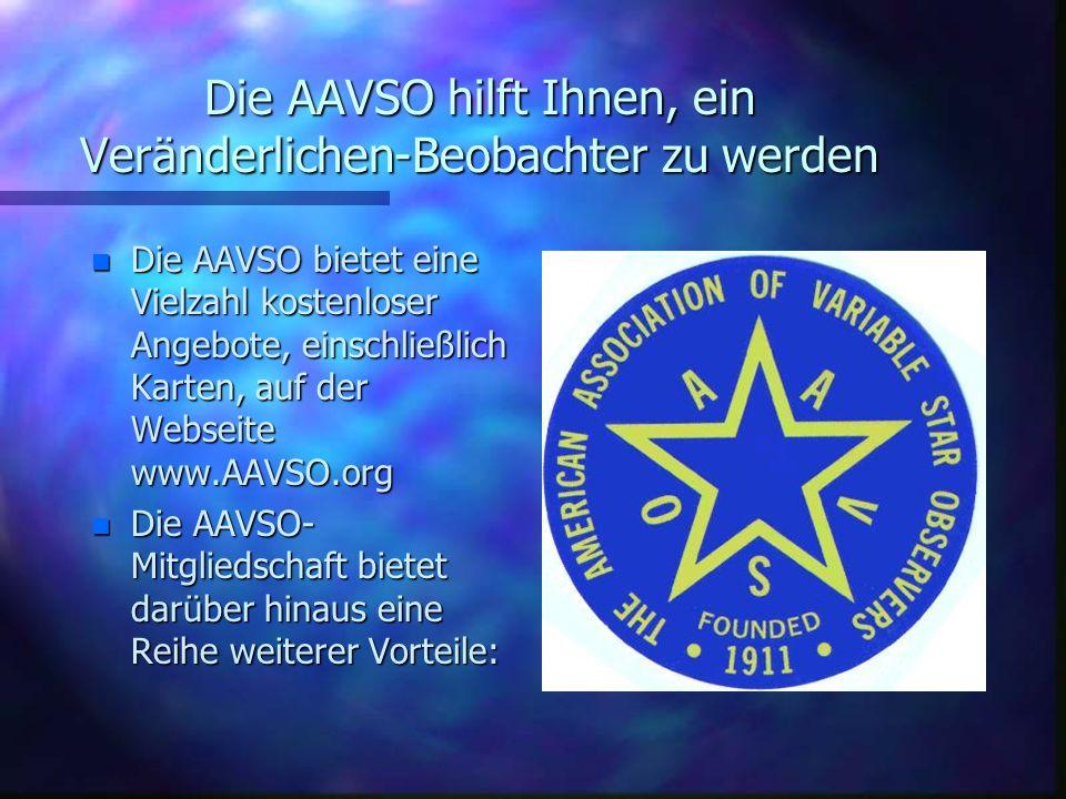 Die AAVSO hilft Ihnen, ein Veränderlichen-Beobachter zu werden