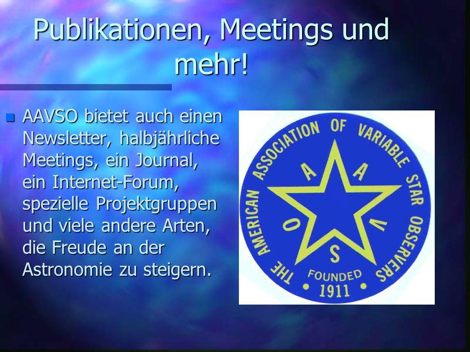 Publikationen, Meetings und mehr!