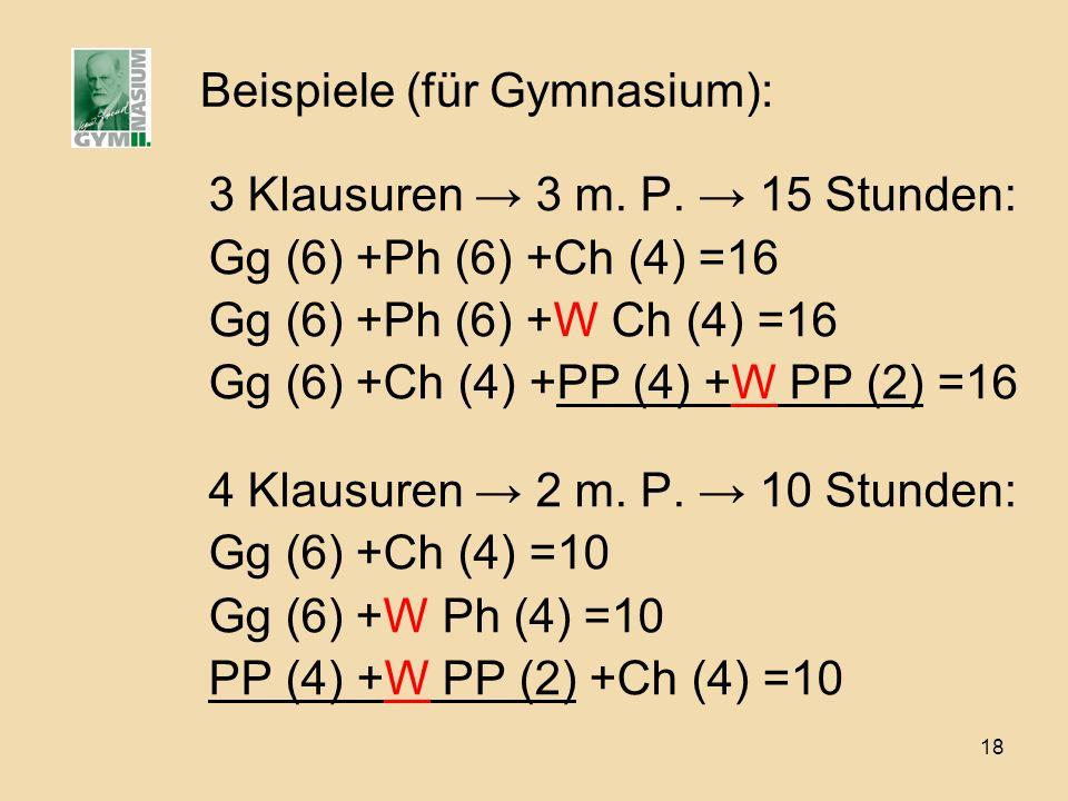 Beispiele (für Gymnasium):