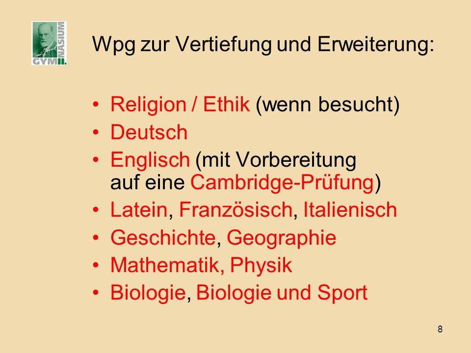 Wpg zur Vertiefung und Erweiterung: