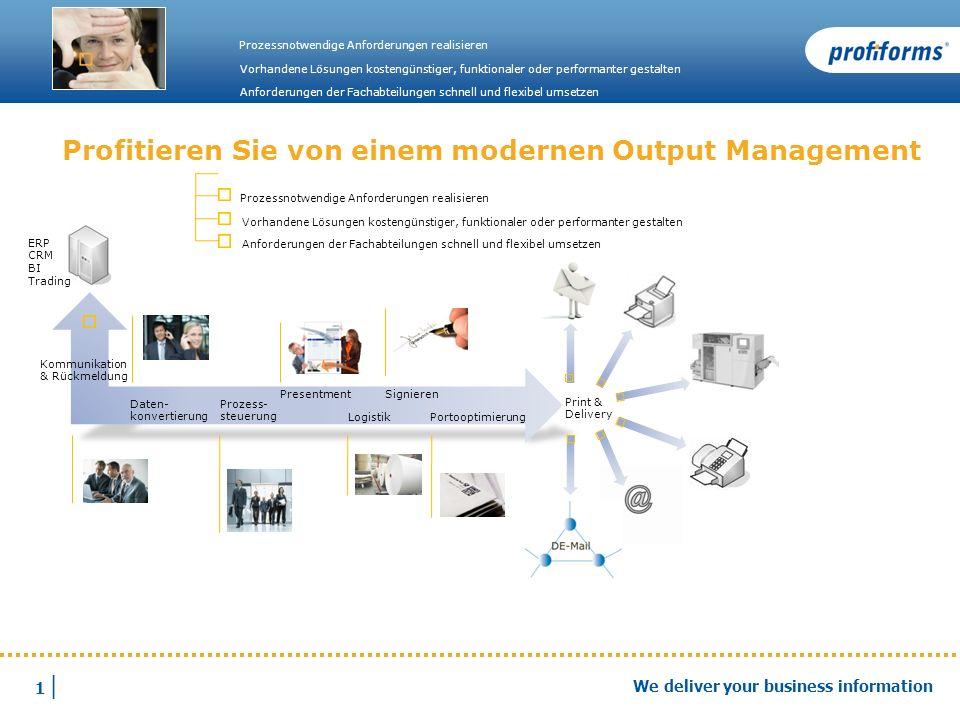 Profitieren Sie von einem modernen Output Management