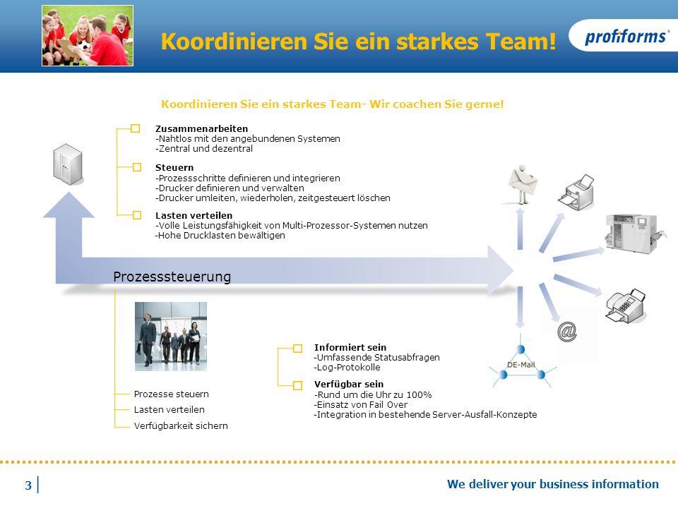 Koordinieren Sie ein starkes Team!