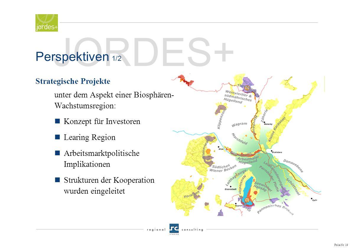JORDES+ Perspektiven 1/2 Strategische Projekte