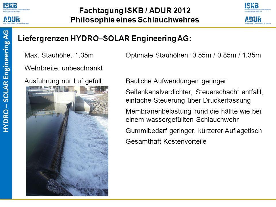 Liefergrenzen HYDRO–SOLAR Engineering AG: