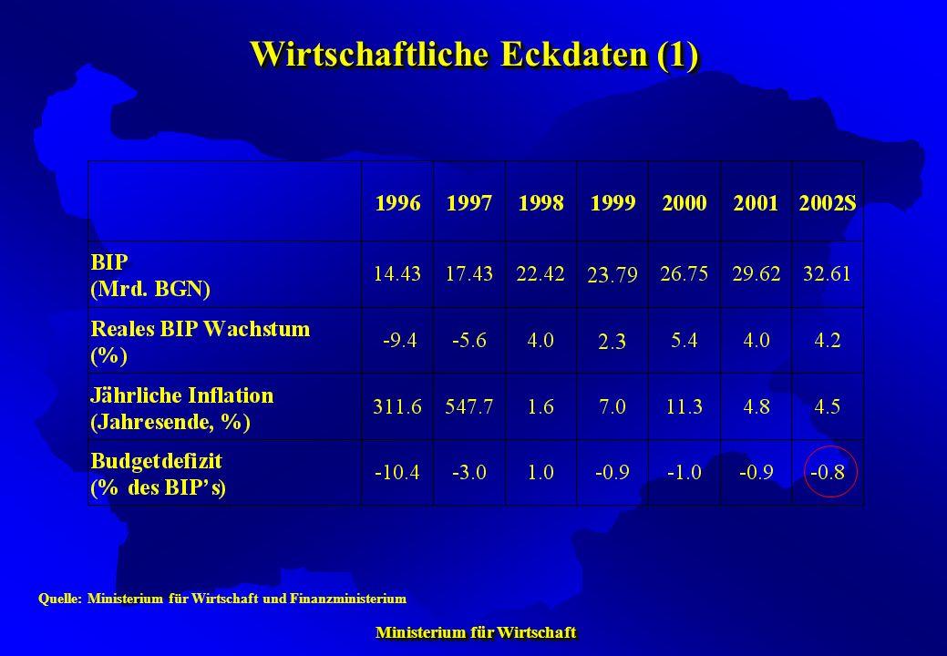 Wirtschaftliche Eckdaten (1)