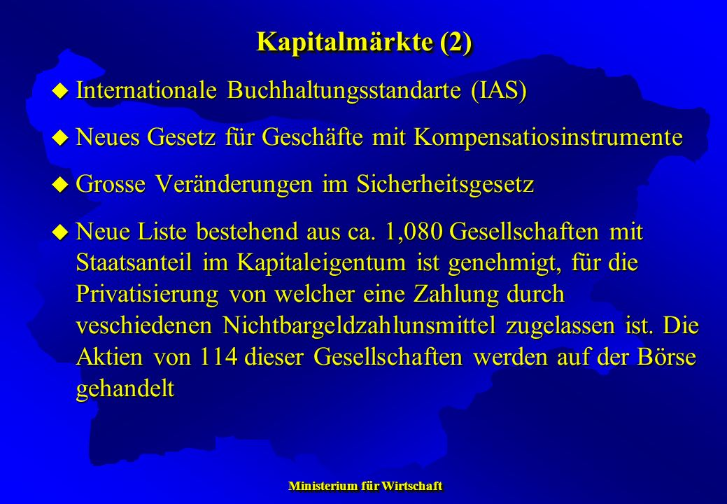 Kapitalmärkte (2) Internationale Buchhaltungsstandarte (IAS)