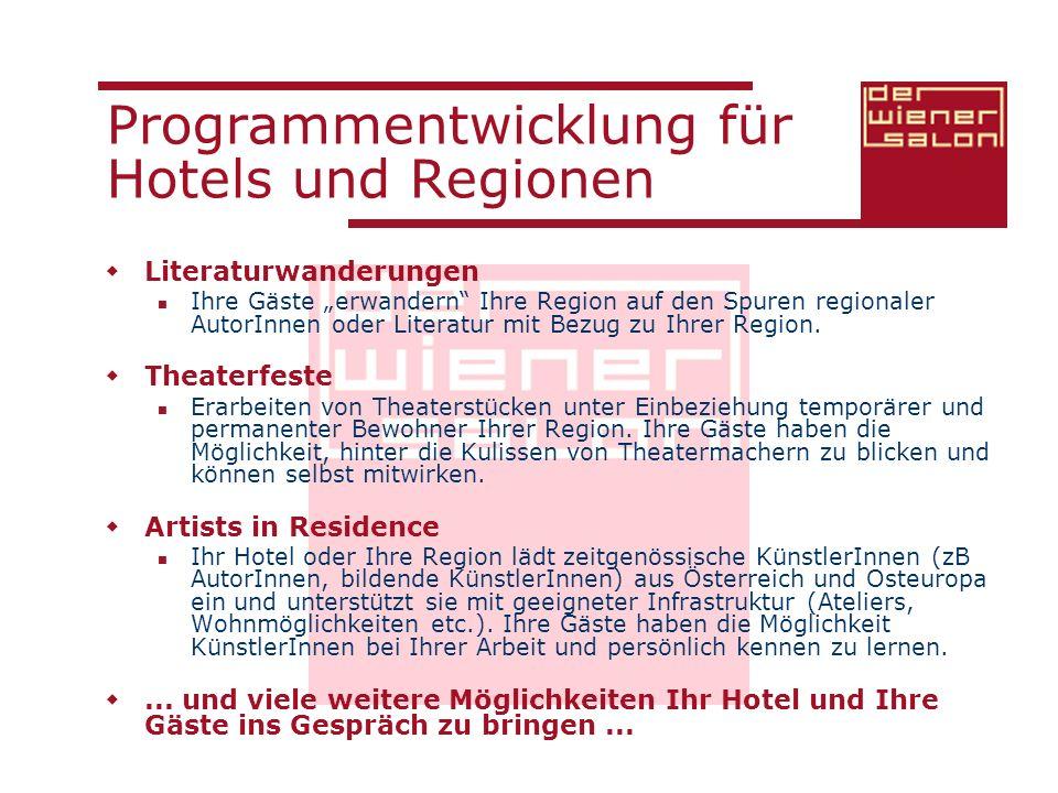 Programmentwicklung für Hotels und Regionen
