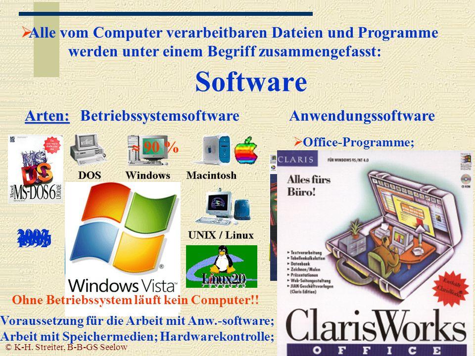 Alle vom Computer verarbeitbaren Dateien und Programme