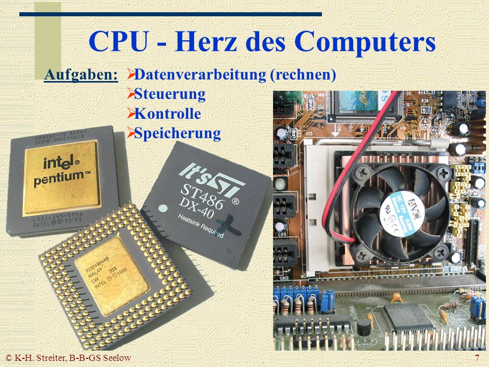 CPU - Herz des Computers