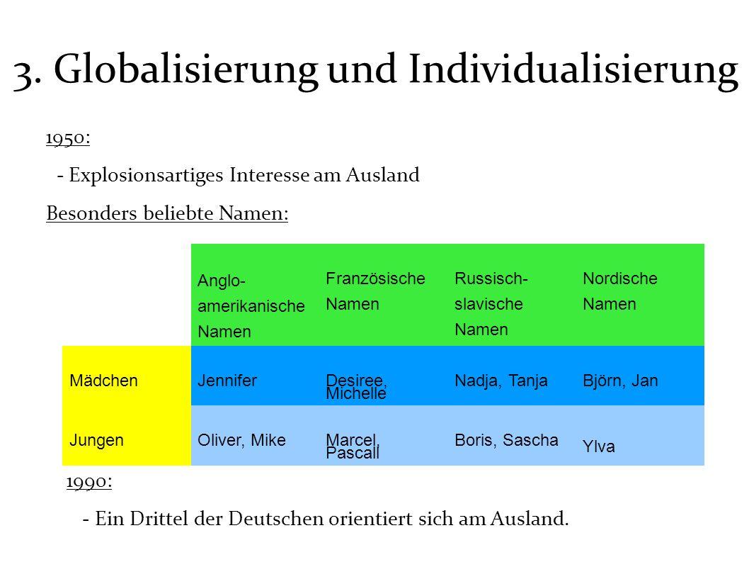 3. Globalisierung und Individualisierung