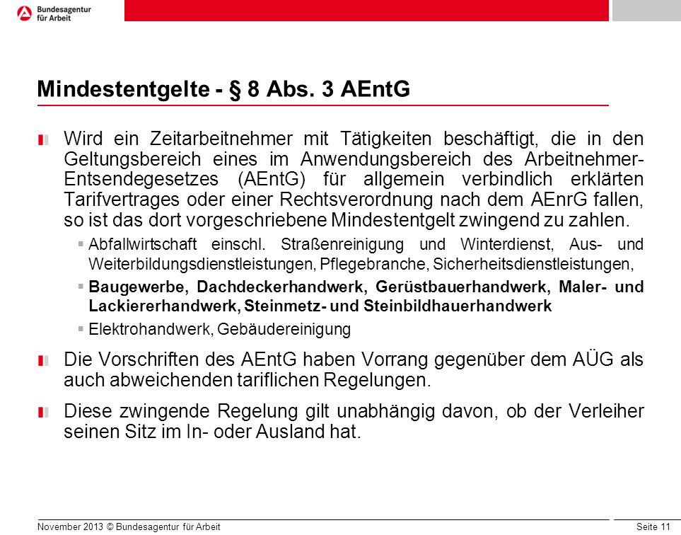 Mindestentgelte - § 8 Abs. 3 AEntG