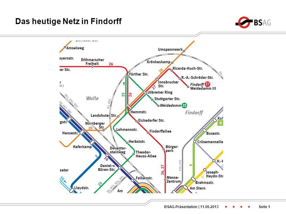 Das heutige Netz in Findorff