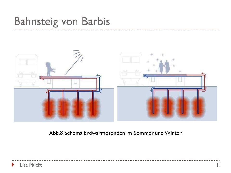 Abb.8 Schema Erdwärmesonden im Sommer und Winter