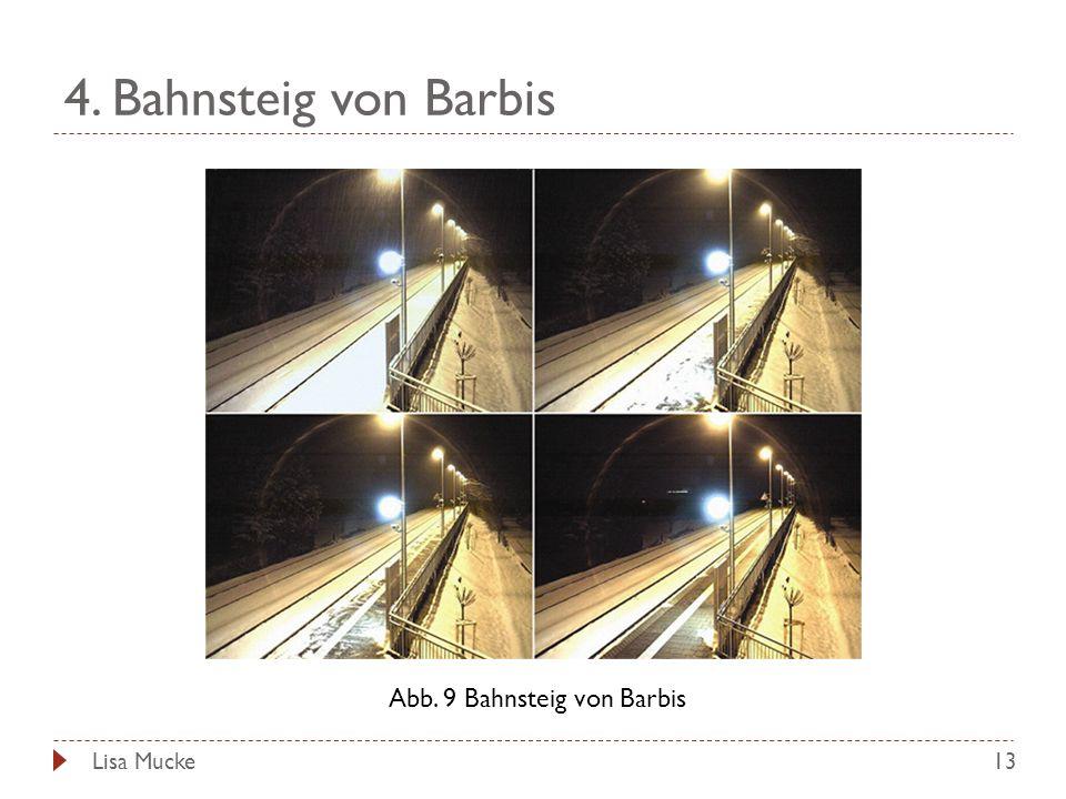 Abb. 9 Bahnsteig von Barbis