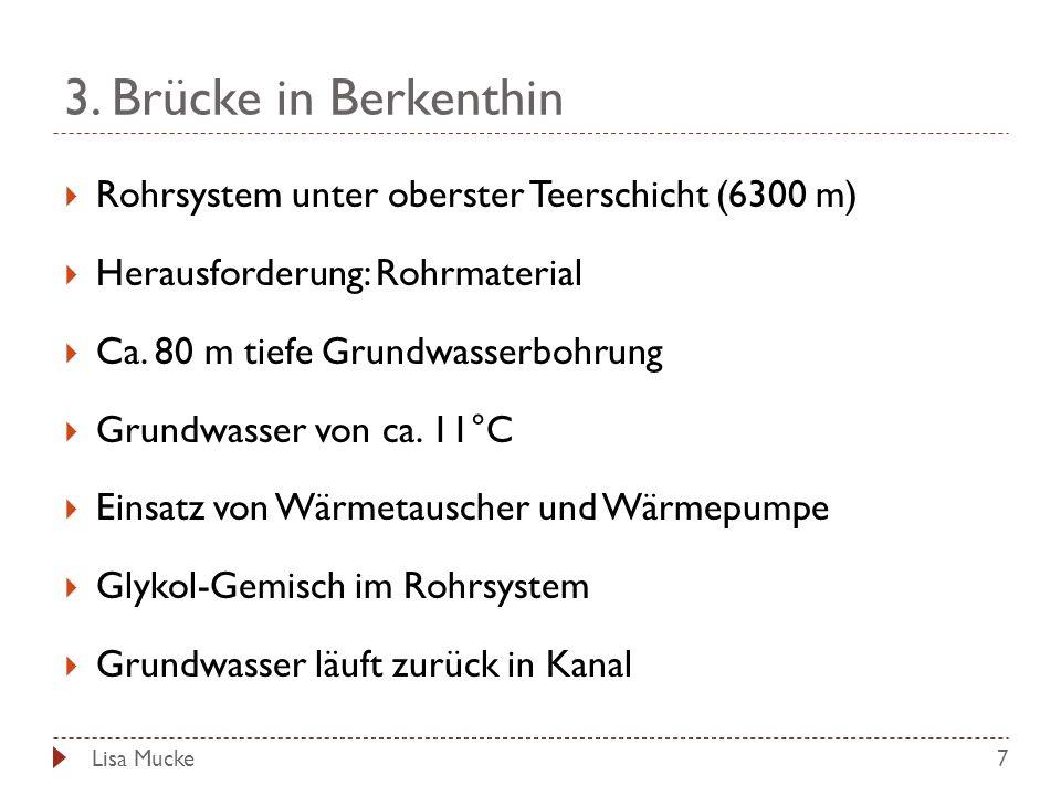 3. Brücke in Berkenthin Rohrsystem unter oberster Teerschicht (6300 m)