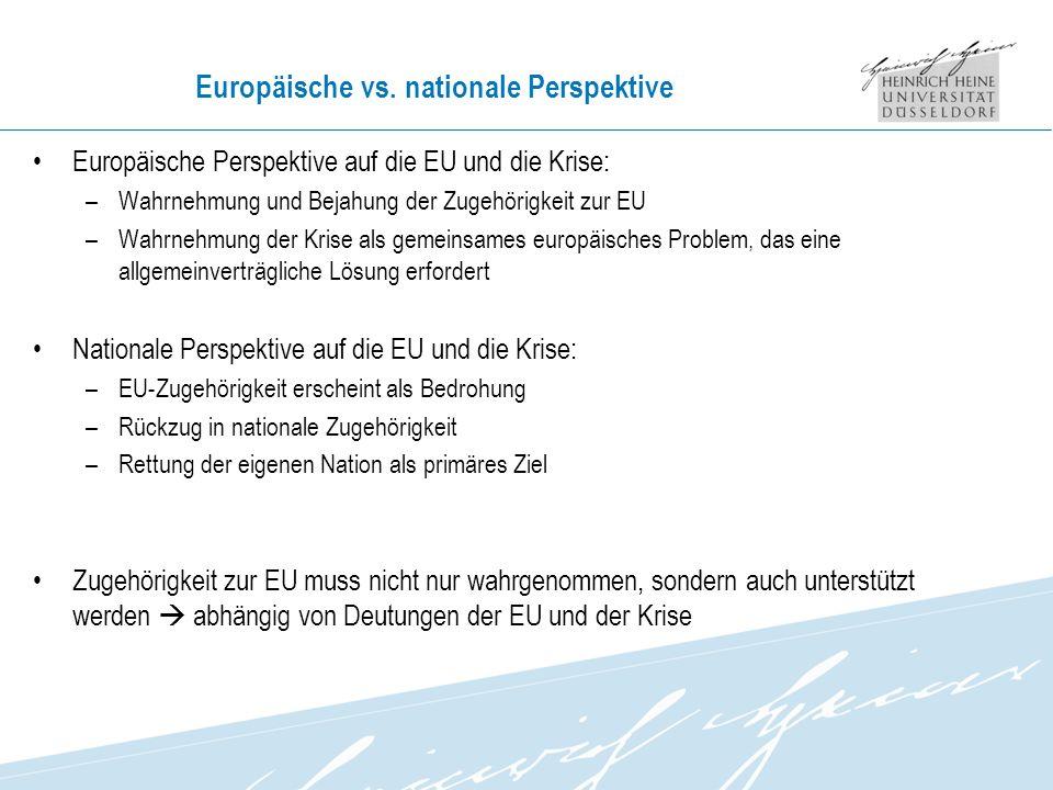 Europäische vs. nationale Perspektive