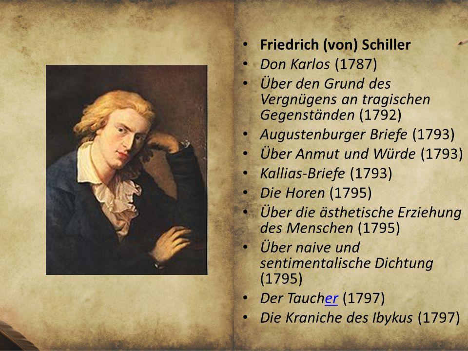 Friedrich (von) Schiller