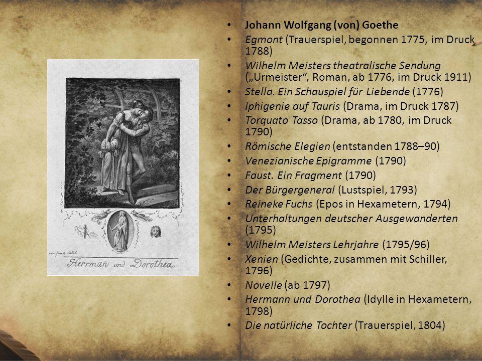 Johann Wolfgang (von) Goethe