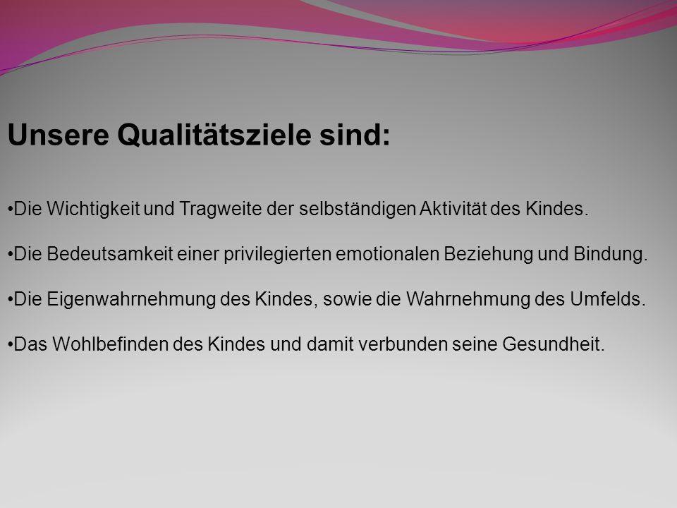 Unsere Qualitätsziele sind: