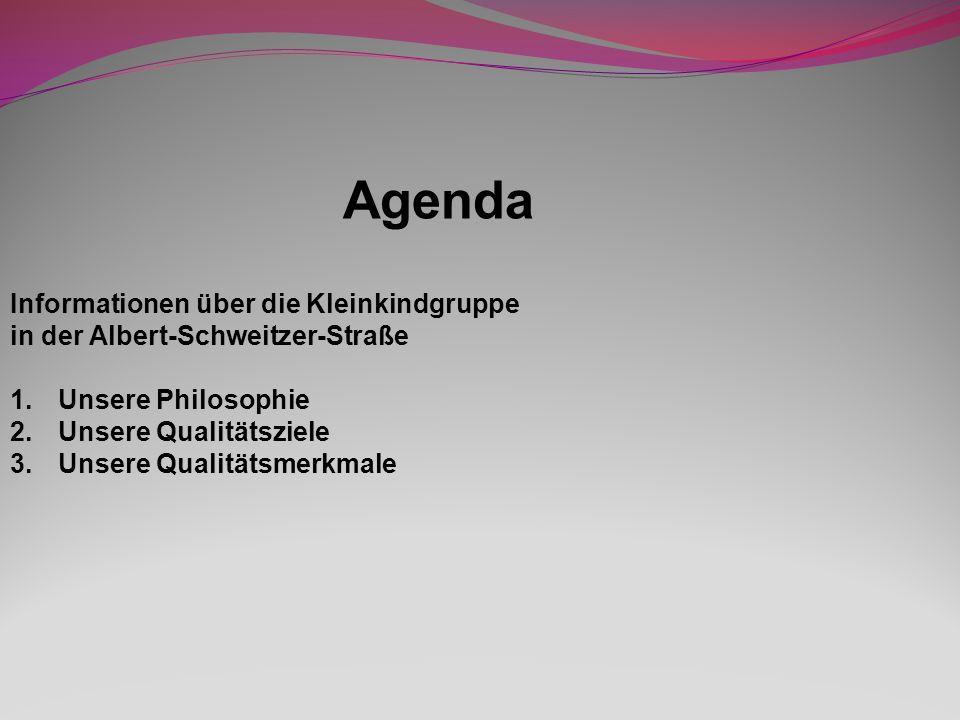 Agenda Informationen über die Kleinkindgruppe